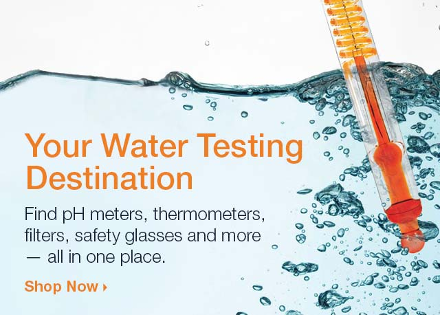 Stock Up on Water Testing Supplies